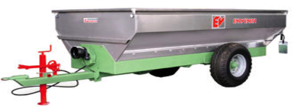 HARVESTING TRAILER with unloading door